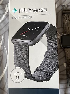 $ CDN69.24 • Buy Fitbit Versa Special Edition Wristband Fitness Watch, One Size - Charcoal