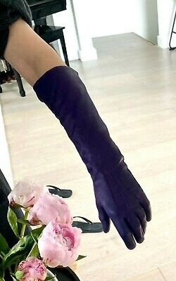 £29 • Buy Whistles Long Gloves S Elbow Length Purple Soft Leather