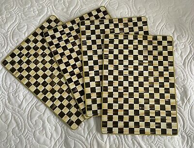 $45 • Buy MacKenzie-Childs Courtly Check Cork Backed Placemats - Set Of 4