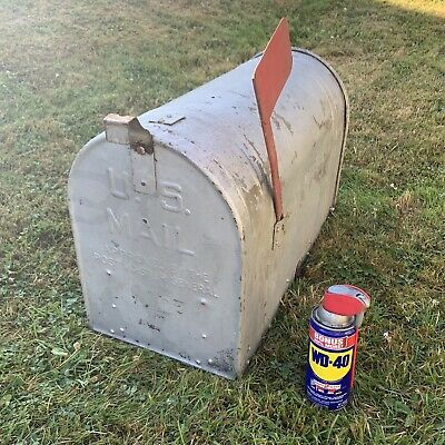 $99.95 • Buy Vintage Extra Large Rural Galvanized Mailbox Farmhouse Old Rustic USA Steel 🇺🇸