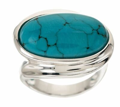 $ CDN61.67 • Buy QVC Turquoise Bold Polished East/West Sterling Ring Size 8