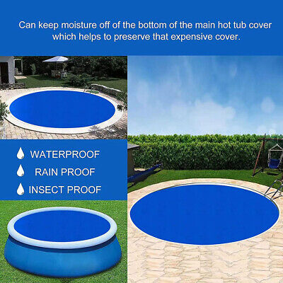 £13.99 • Buy Solar Pool Cover Sheet For Fast Set Inflatable 8ft 10ft Paddling Swimming Pool#b