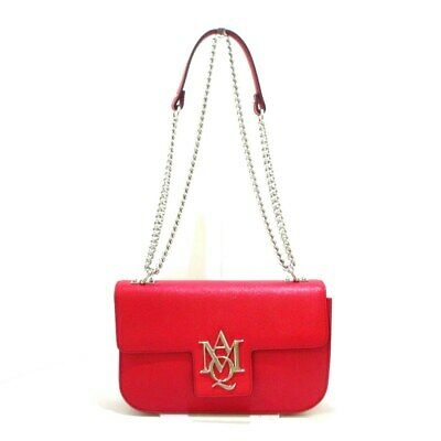 AU801.68 • Buy Auth ALEXANDER McQUEEN Red Leather Womens Shoulder Bag