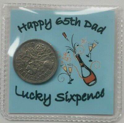 £2.99 • Buy 65th Dad Birthday Sixpence Gift *1956 Coin* - 1st Class P&p Included