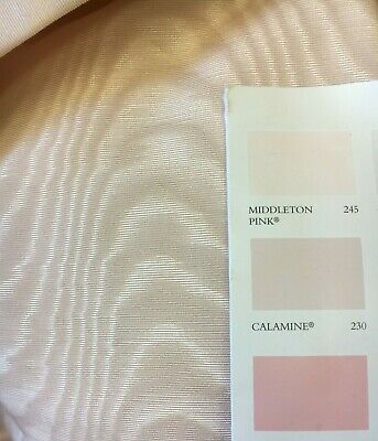 £39 • Buy 5 Mts  Faux Silk Taffeta Moire Watermark Curtain Fabric In Pale Pink