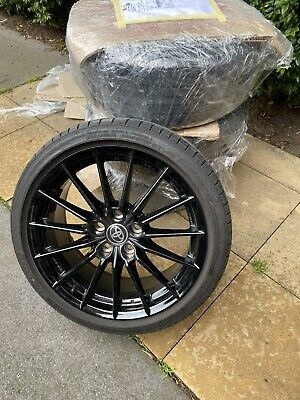 """AU2200 • Buy As New Toyota GR Yaris ALLOY WHEELS AND TYRES Enkei 18x8"""" ET45 PCD 114.3 X 5"""