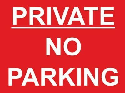 £0.99 • Buy Private No Parking Keep Clear Private Property Sign (S323R)