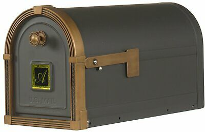 $70 • Buy Gibraltar Mailboxe XL Capacity Post Mount Parcel Mailbox Bronze With Copper