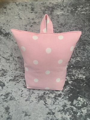£10.99 • Buy Hand Made Door Stop Using Cath Kidston Pink Button Spot  Fabric - FILLED - SALE