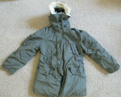$80 • Buy Vintage US Military Extreme Cold Weather Olive Parka Type N-3B - Multiple Sizes