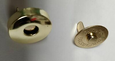£4.49 • Buy 14mm Gold Magnetic Snaps Button Closures Purse Bag Pack Of 10