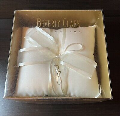 £7.26 • Buy Beverly Clark Collection Simplicity Ring Pillow Wedding Ring Bearer Ivory Pillow