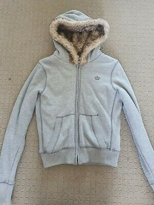 AU15 • Buy Forever New Thick Fur Hoodie, Size 8