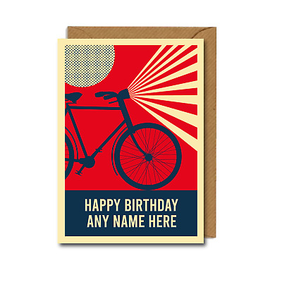 £2.75 • Buy *PERSONALISED* Cyclist BIKES Bicycles BIRTHDAY CARD Cycling RETRO