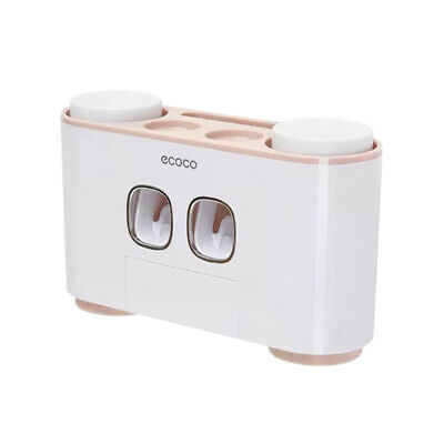 AU18.29 • Buy Handfree Toothbrush Holder Automatic Toothpaste Dispenser Set 5 Holder 4 Cup AUS