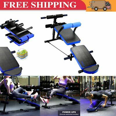 £75.99 • Buy Sit Up Bench Decline Abdominal Fitness Home Gym Exercise Workout Equipment