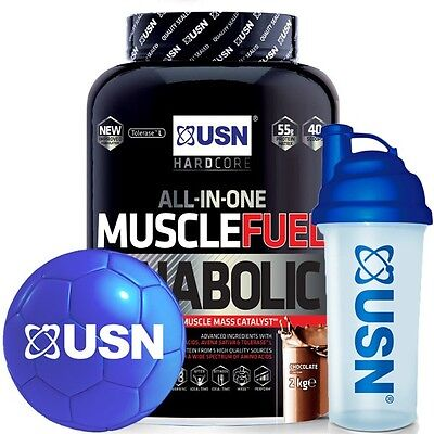 £35.99 • Buy USN Muscle Fuel Anabolic Muscle Mass Catalyst 2kg With USN MINI BALL & SHAKER!