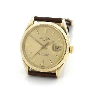 AU2819.49 • Buy Vintage Rolex Oyster Perpetual Date Champagne Dial 34mm Wrist Watch #w2589-1