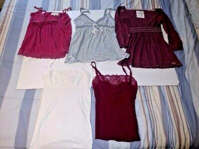 AU10.86 • Buy Lot Of 5 Hollister Abercrombie Pink SMALL-LARGE CAMI TANK BABY DOLL SHIRTS DRESS