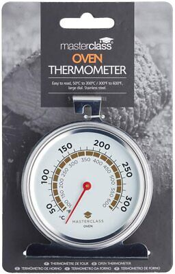 £11.99 • Buy Masterclass Large Oven Dial Thermometer Temperature Gauge Stainless MCOVENSS