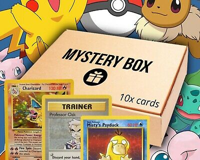 £10 • Buy Pokemon Cards 1999 Mystery Box/grab Bag X10 Cards Common And Uncommon