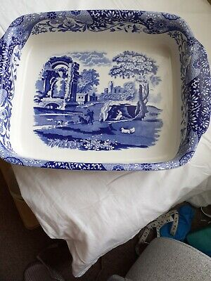 £40 • Buy Spode Blue Italian. Oblong  Serving  Dish  16 Inches  Long  12 Inches Wide  Pre