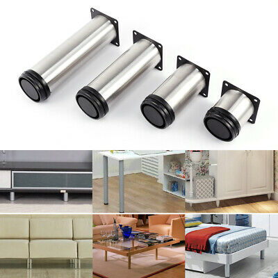 £9.99 • Buy 4pcs Stainless Steel Furniture Legs Adjustable Cabinet Sofa Table Desk Bed Feet