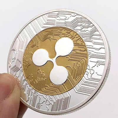 AU4.06 • Buy Silver & Gold Ripple Coin Commemorative Round Collectors Coin XRP Coin With Case