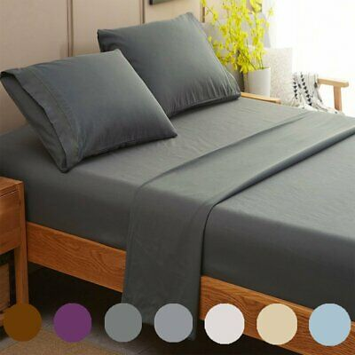 AU37.92 • Buy 1800TC Ultra Soft Bed Sheet Set Flat Fitted Pillow Case Queen King Single Double
