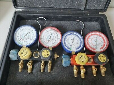 £49.99 • Buy Refrigeration Manifold 2-WAY With Gauges  X 2 In Case