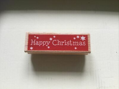 £4 • Buy Dovecraft Happy Christmas Wooden Stamp . Used