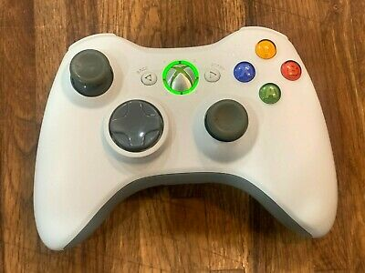 AU14.27 • Buy Official Microsoft Xbox 360 Wireless White Controller - Tested