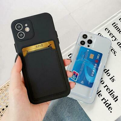 AU7.53 • Buy New Case With Card Slot Holder For IPhone 13 12 11 Pro Max Mini XS XR X