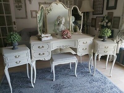 £650 • Buy French Louis/Rococco Style Bedroom Set,dressing Table/bedsides/drawers/mirror