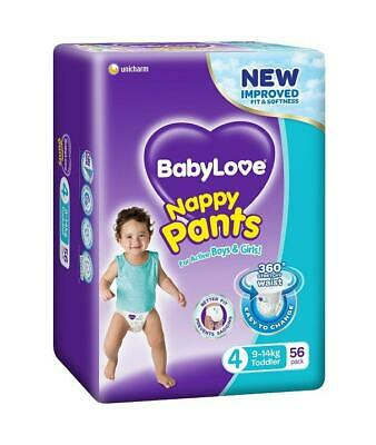 AU28.95 • Buy New 9-14kg X 56 Pack BabyLove Nappy Pants Toddler Limit 2 Boxes Per Order