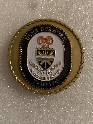 $13.99 • Buy USNS BIG HORN T-AO 198 MILITARY SEALIFT COMMAND Challenge Coin