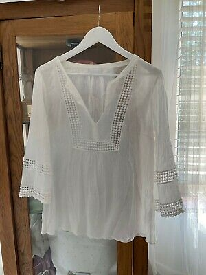 £11.50 • Buy The White Company Blouse Size 14. Excellent Condition. 100% Cotton.