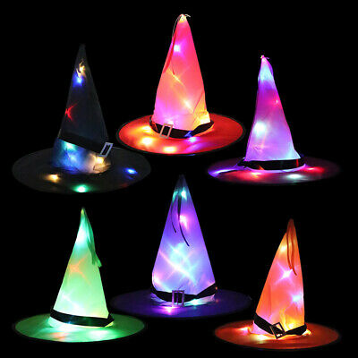 $ CDN7.80 • Buy Halloween Witch Hat LED Light For Kids Party Outdoor Decor Tree Hanging Ornament