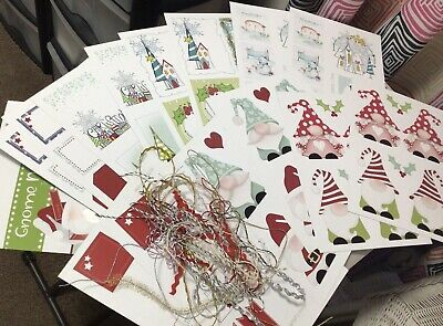 £4 • Buy Craft Room Clear Out - Fab Bundle Of Christmas Stash - Polkadoodles - New & Cute