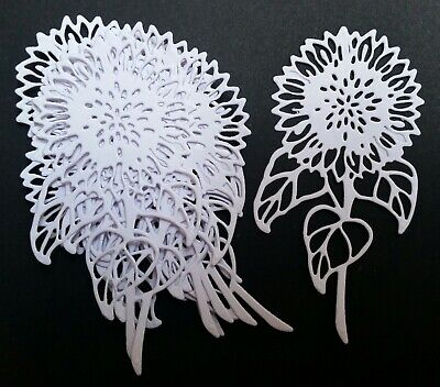 £0.99 • Buy 10 Die Cut White Sunflowers  For Crafts
