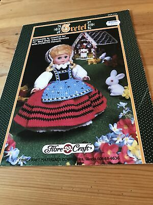 £1.49 • Buy GRETEL Crochet Pattern For 13  Doll Outfit - Fibre Craft FCM 171