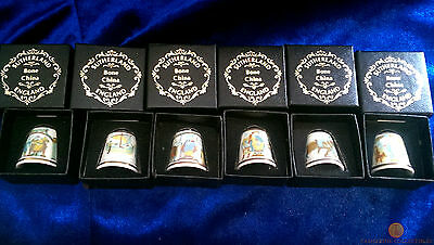 £9.99 • Buy Set Of 6 Different Bayeux Tapestry Thimbles By Sutherland Bone China New & Boxed