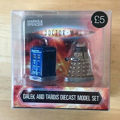 £4 • Buy DR WHO Dalek And Tardis Die Cast Metal Figures Marks And Spencer