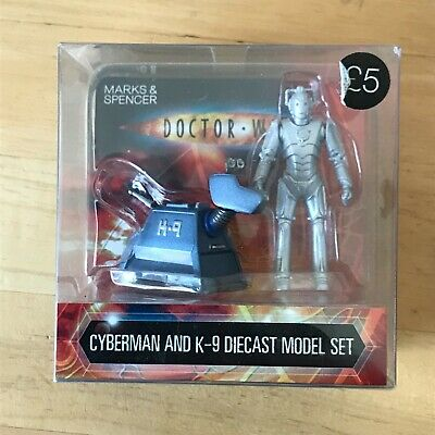£4 • Buy DR WHO Cyberman And K9 Die Cast Metal Figures Marks And Spencer