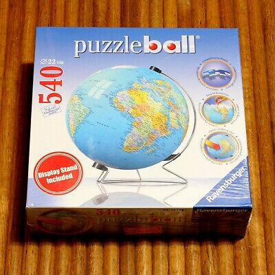 $14.95 • Buy 2007 Ravensburger Puzzle Ball Globe & Display Stand New Sealed 22cm No.11 118 3