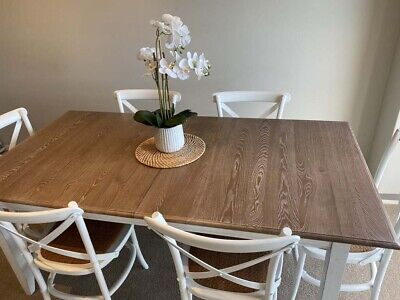 AU450 • Buy SHACK Hamptons Dining Table And 6 Hamptons Chairs