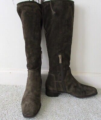 £79.31 • Buy Aquatalia Brown Suede Knee High Boots Size 8 NEW