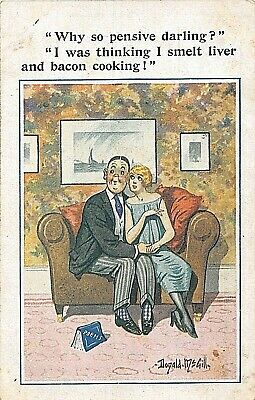 £3.90 • Buy Postcard  Comic Donald Mcgill - Courting Couple - Liver And Bacon