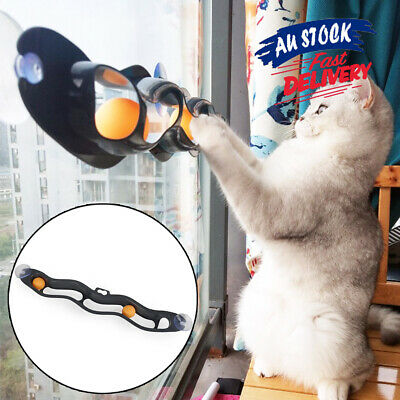 AU13.29 • Buy Track Bal Interactive Track Ball Window Suction Cup Funny Cat Toys Cat Pet Toy