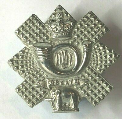 £14.88 • Buy 1953-60 Highland Light Infantry Collar Badge White Metal Queens Crown